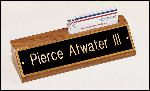 American Walnut Name Plate with Business Card Holder
