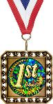 Exclusive Square Medal with Round Insert
