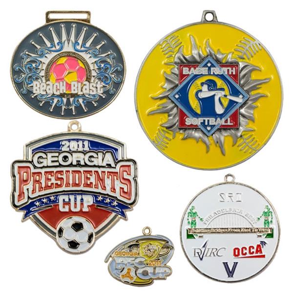 Custom Color Filled Medals CC